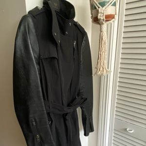 Long Black Mackage Trench Coat